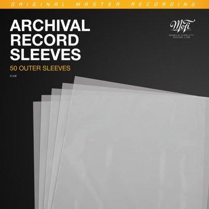 VINYLO.SK | MOFI Archival Record Sleeves - Vonkajšie obaly na archiváciu a ochranu LP 50ks 0821797777308