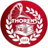 podlozka thorens felt mat cervena s logom thorens