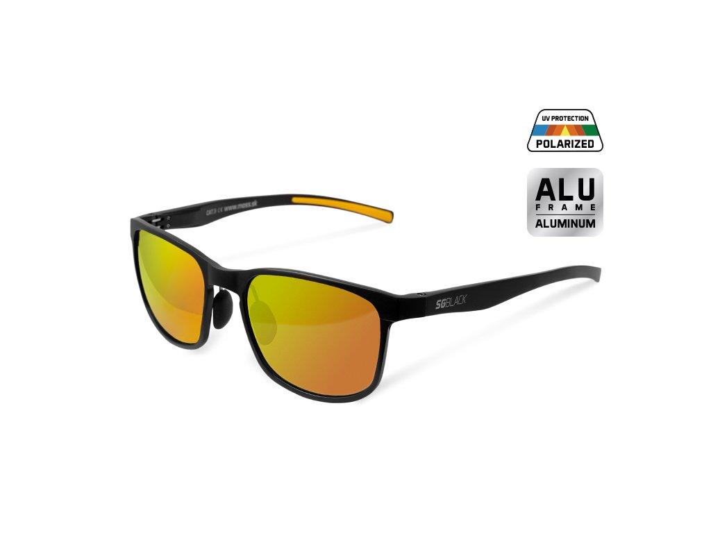 Polarizační brýle Delphin SG BLACK oranžová skla