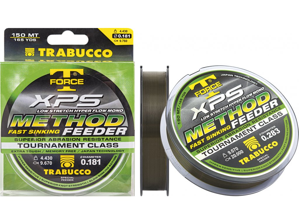 Trabucco vlasec T-Force XPS METHOD FEEDER 150m (Varianta 0,18mm)