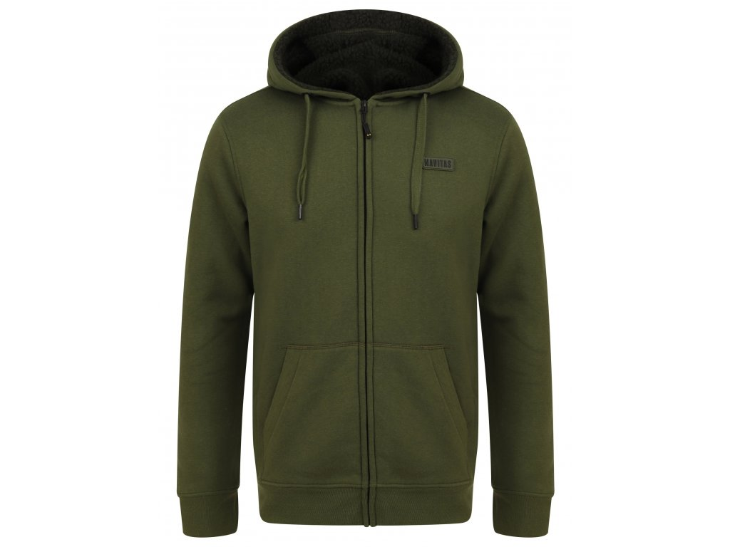 Navitas: Mikina Sherpa Zip Hoody Green Velikost S