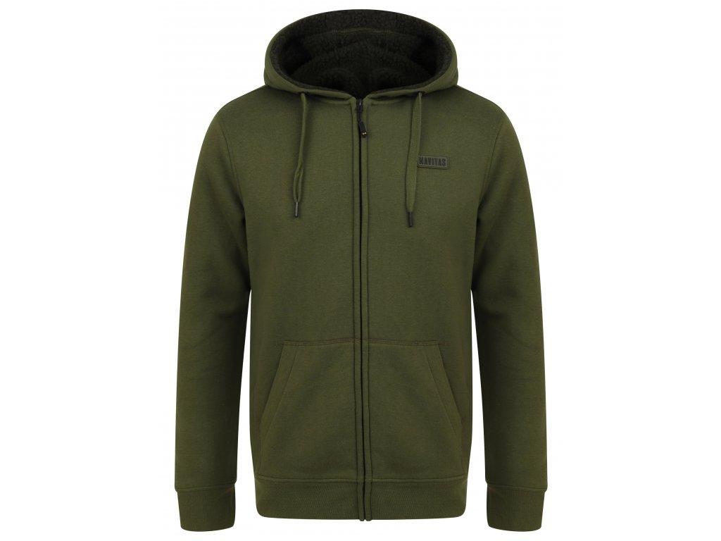 Navitas: Mikina Sherpa Zip Hoody Green Velikost 3XL