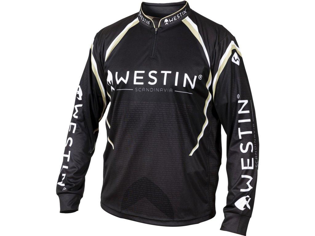 Westin: Tričko LS Tournament Shirt Black/Grey VelikostXL