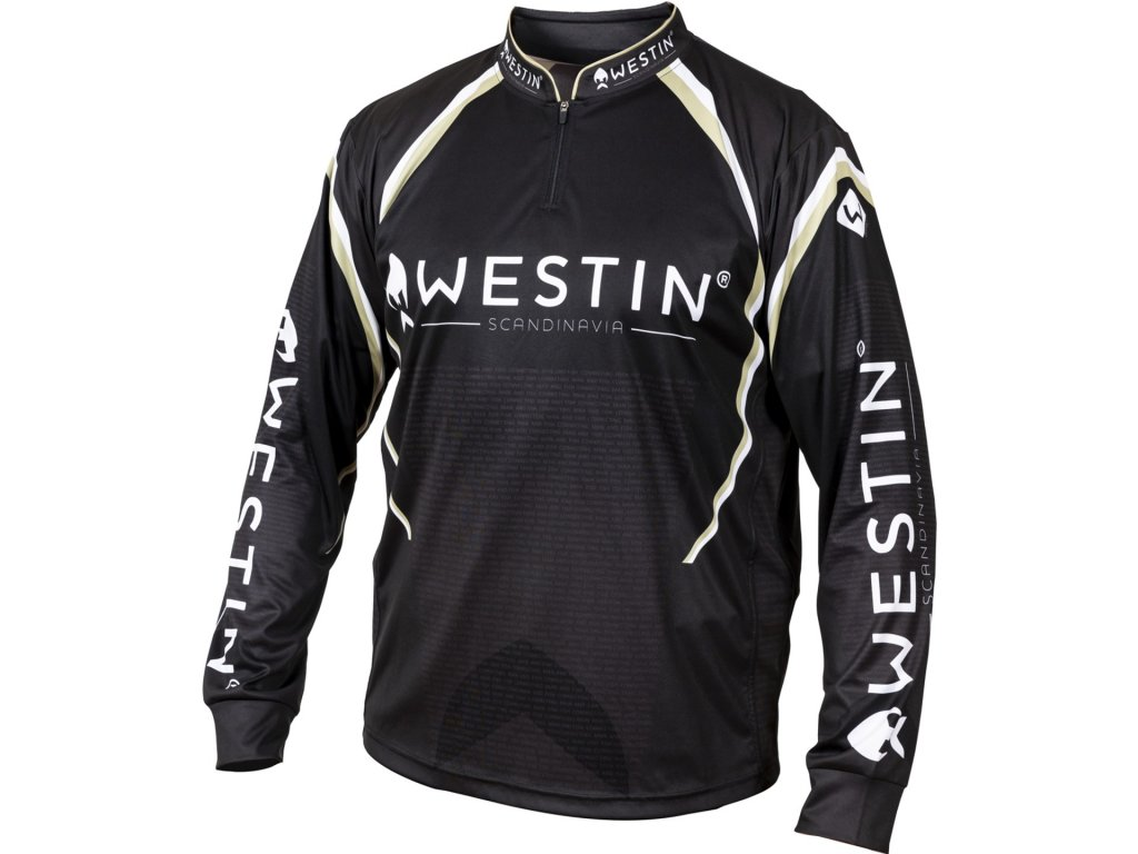 Westin: Tričko LS Tournament Shirt Black/Grey VelikostXXL