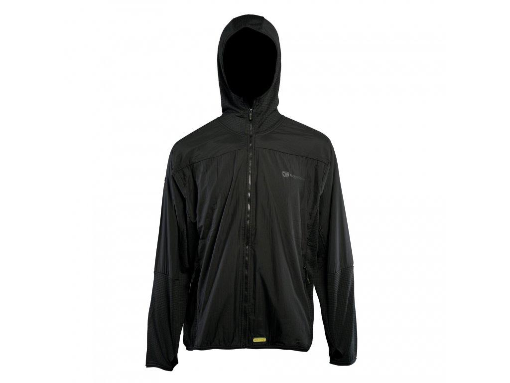 RidgeMonkey: Bunda APEarel Dropback Lightweight Zip Jacket Black Velikost XXXL
