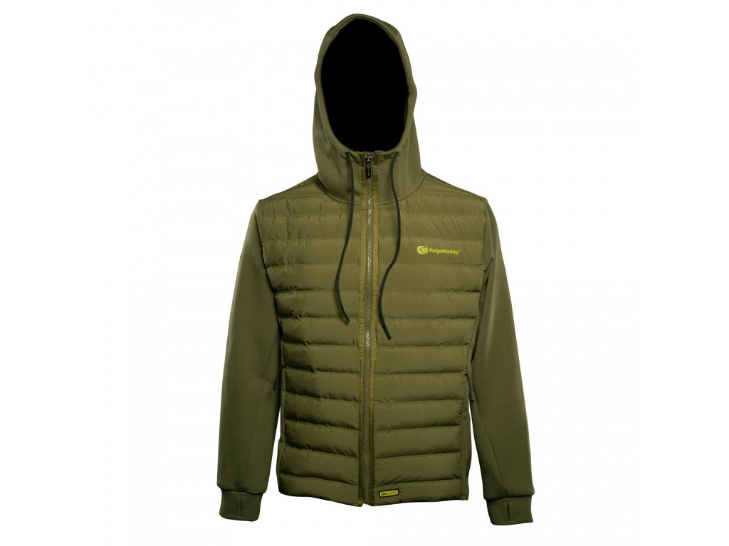 RidgeMonkey: Bunda APEarel Dropback Heavyweight Zip Jacket Green Velikost L