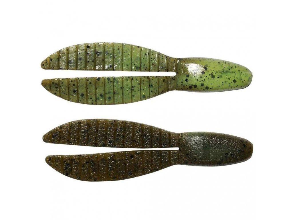 "Keitech: Gumová nástraha Flex Chunk 4"" 10,2cm 13,5g Green Pumpkin PP/Chartreuse 5ks"