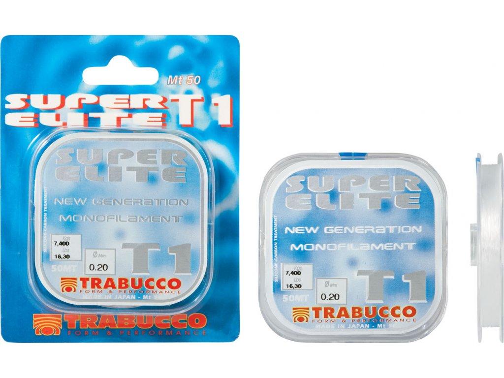Trabucco vlasec SUPER ELITE T1-TOURNAMENT 50m (Varianta 0,05mm - 0.620kg)