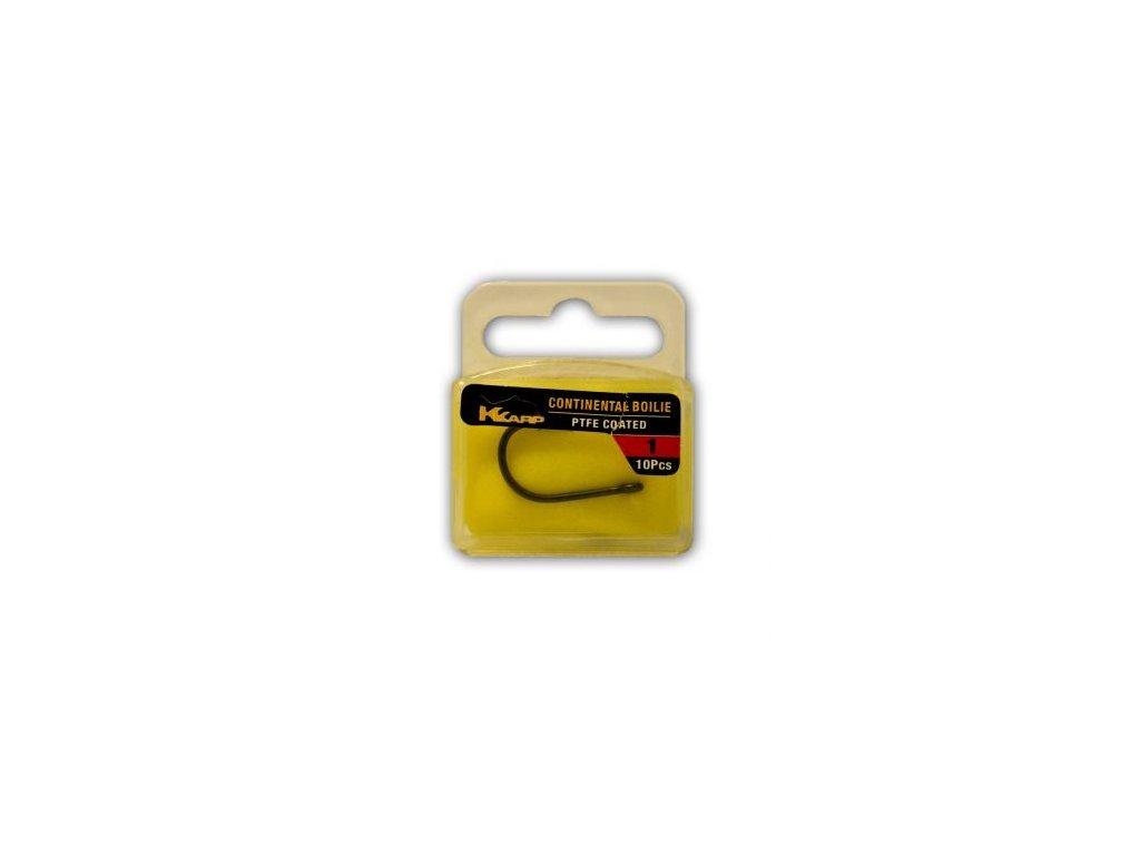 K-Karp teflonové háčky Continental boilie 10ks (Varianta vel. 1)