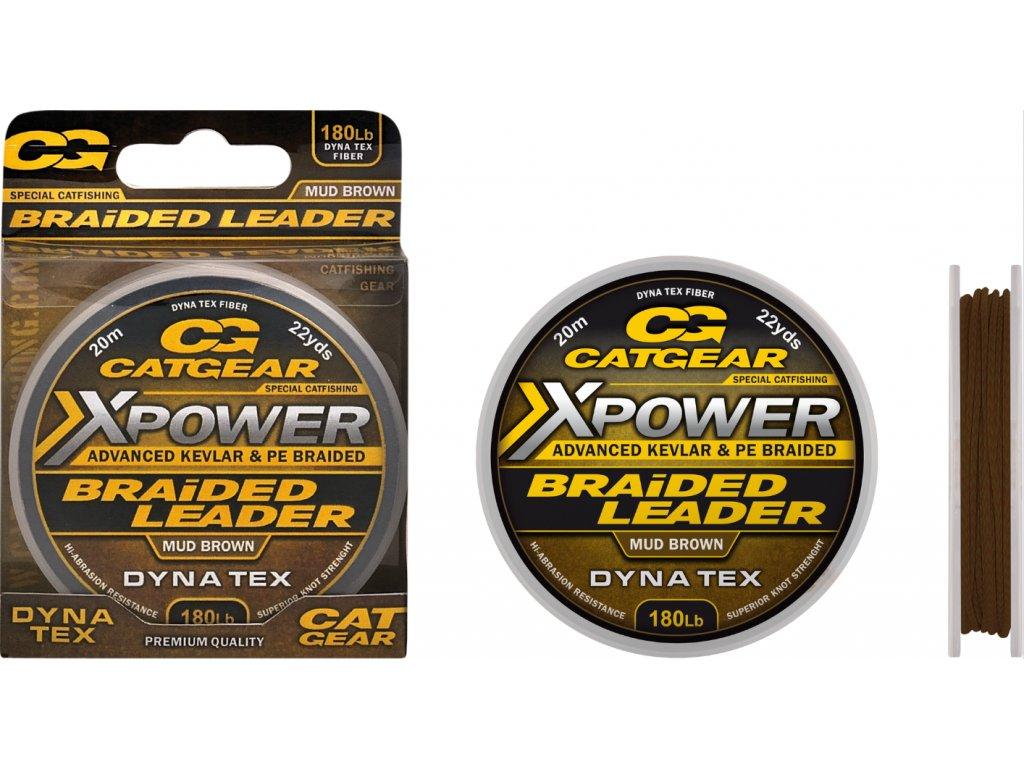 Catgear pletená šňůra X-Power Braided Leader