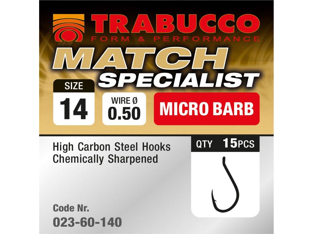 Trabucco háčky Match Specialist 15ks (Varianta vel. 10)