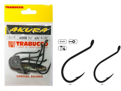 Trabucco háčky Akura 600B 5ks (Varianta vel. 10/0)