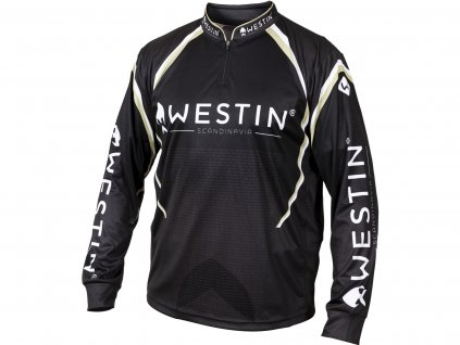 Westin: Tričko LS Tournament Shirt Black/Grey VelikostL