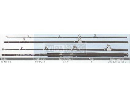 Fladen prut VANTAGE Boat 1.80mt/200-300g/2díl