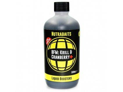Nutrabaits tekuté boostery - Krill&Cranberry + 500ml