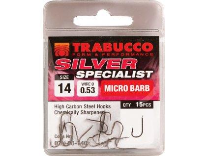 Trabucco háčky Silver Specialist 15ks (Varianta vel. 10)