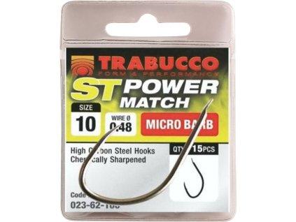Trabucco háčky ST Power Match 15ks (Varianta vel. 10)