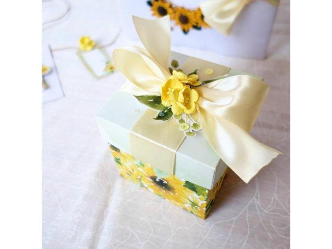 svatebni darovaci krabicka slunecnice1