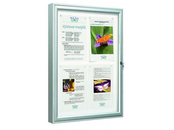 Vitrína Vitincom Classique 9x A4 sklo