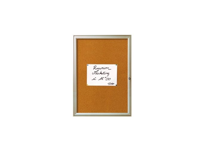Jednokřídlá vitrína REFERENCE 6xA4 - korek