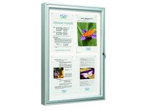 Vitrína Vitincom Classique sklo 6x A4 hl.58mm sklo