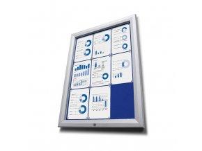 Vitrína venkovni 9xA4 SCTFBLUE9xA4PH 47mm, modrý filc