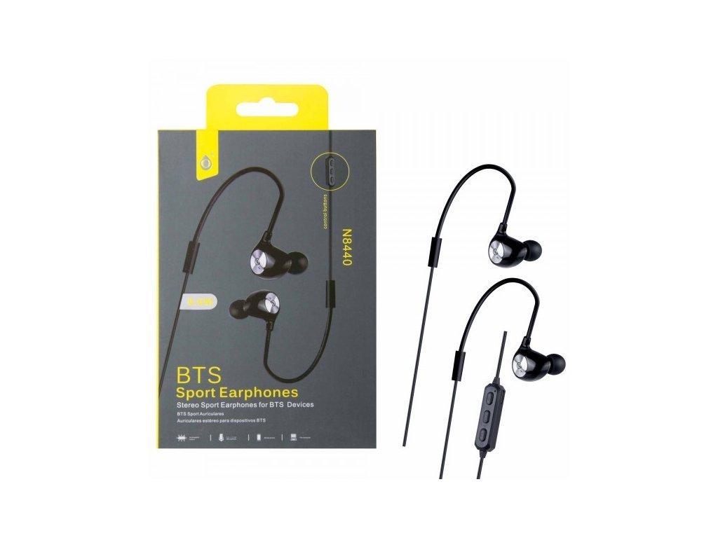 #Bluetooth#sportovní#sluchátka#do# uší#PLUS#N8440#černá