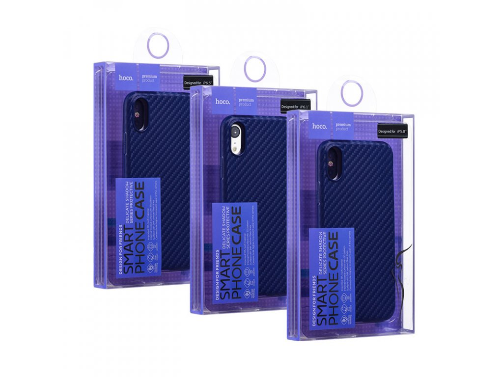 hoco delicate shadow series protective case for iphone 5.8 6.1 6.5 box