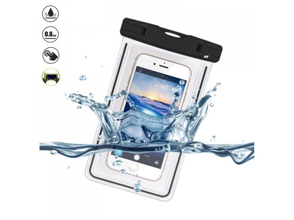 Devia Ranger Luminous Universal Waterproof Case for Smartphones 5 5inch Black 28062018 01 p