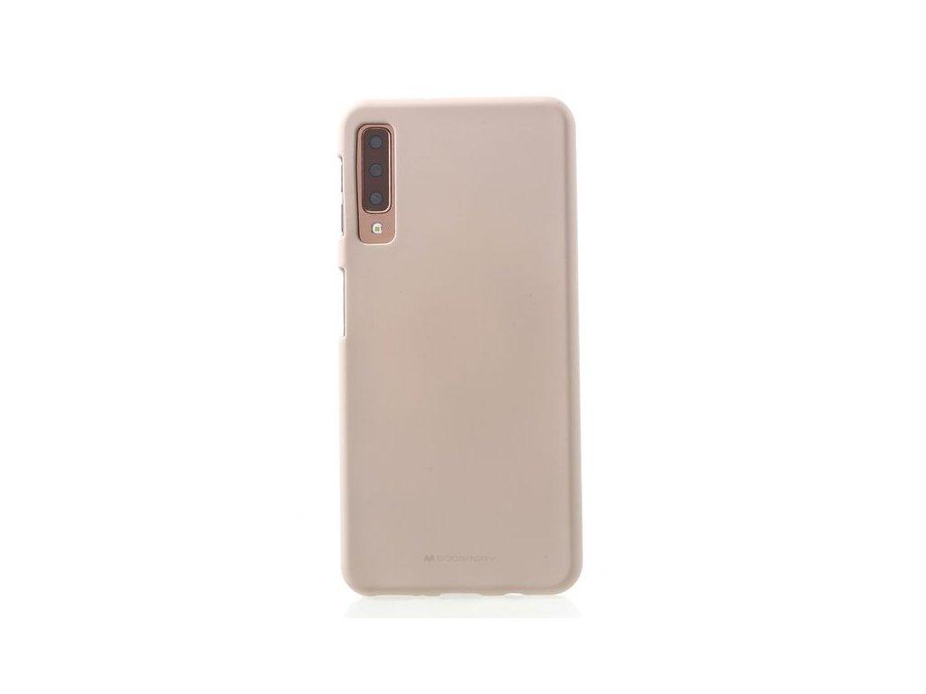 179894 Mercury Goospery Samsung Galaxy A7 2018 Handy Cover Softcase aus sanftem TPU Plastik SF Jelly Series rosegold 1