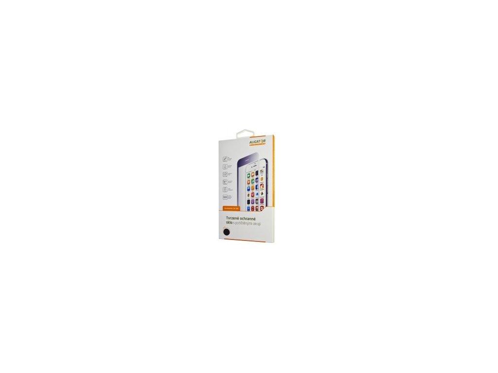 Ochranné tvrzené sklo ALIGATOR PRINT, Samsung Galaxy A80, černá, celoplošné lepení
