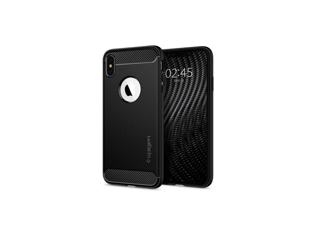 Pouzdro Spigen Rugged Armor iPhone X / XS, matná černá