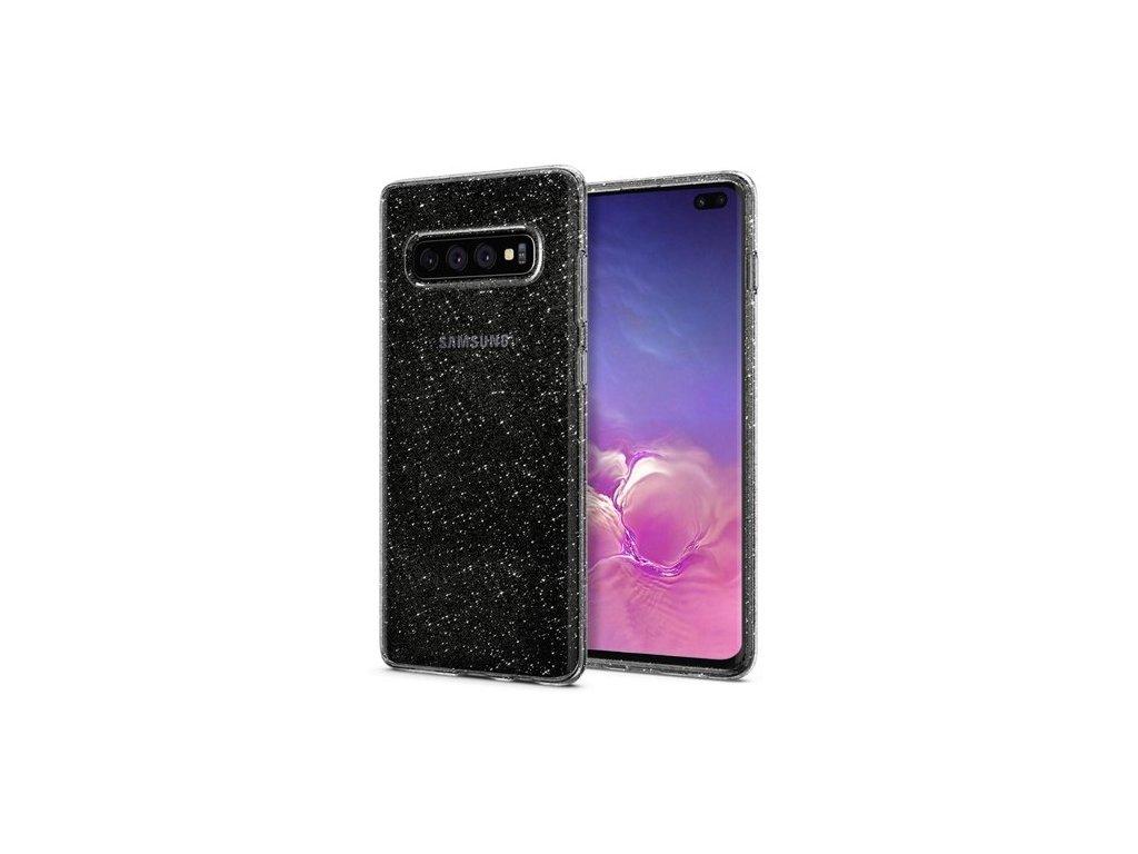 Samsung Galaxy s10 Plus, obal na mobil Spigen Liquid Crystal Glitter,