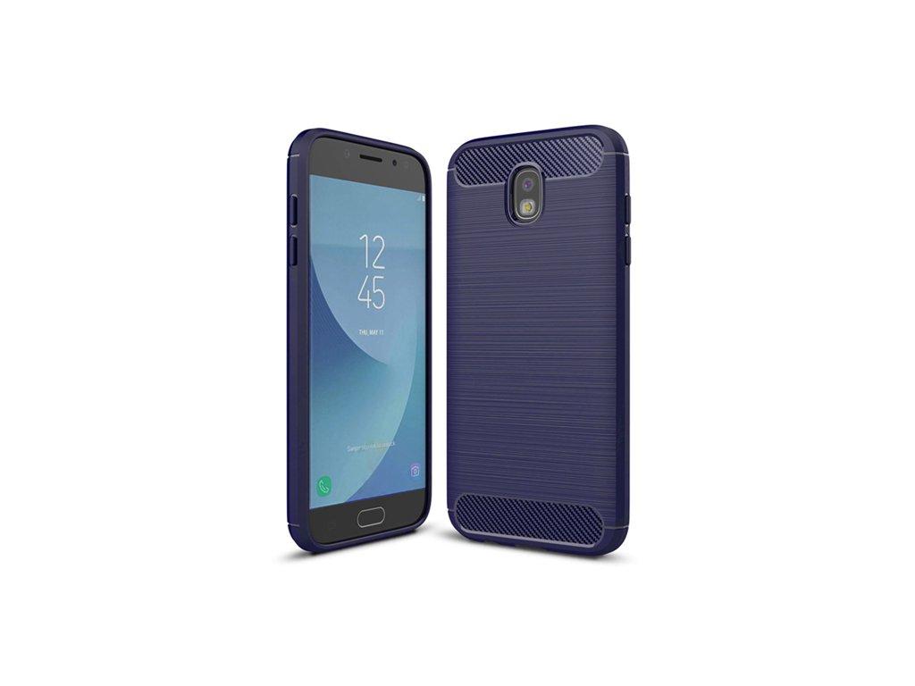 Karbonové pouzdro flexibilní TPU pro Samsung Galaxy J3 2017 J330, modré