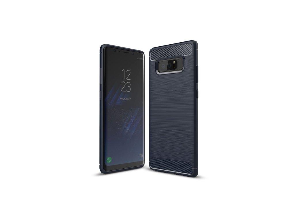 Karbonové pouzdro flexibilní TPU pro Samsung Galaxy Note 8 N950, modré