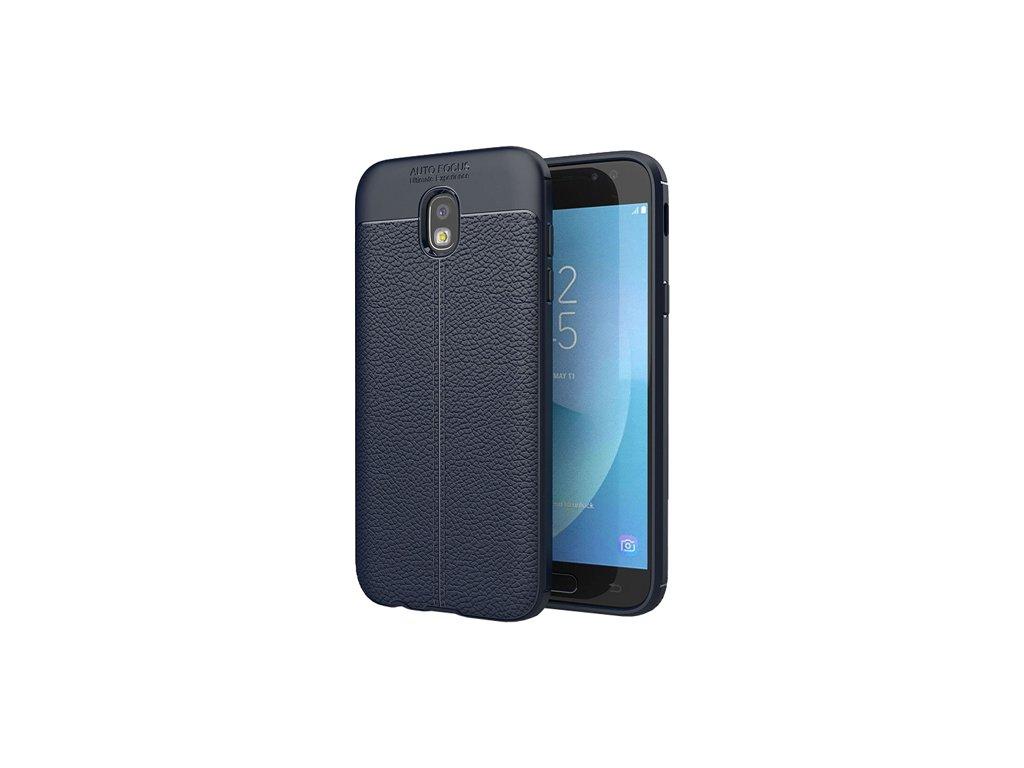 Litchi Pattern flexibilní kryt TPU pro Samsung Galaxy J5 2017 J530, modré