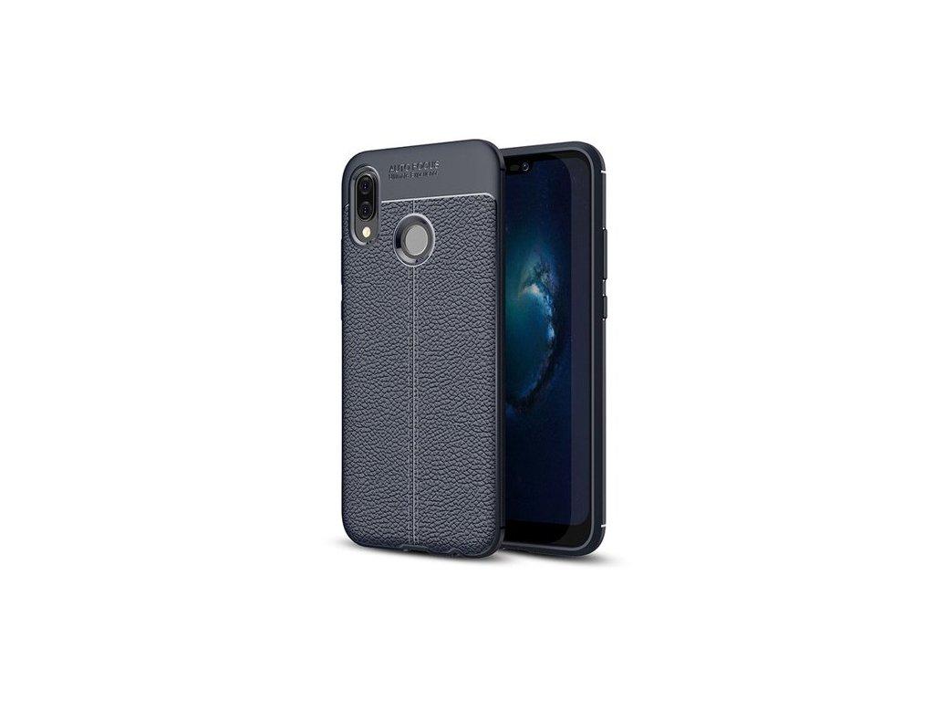 Litchi Pattern flexibilní kryt TPU pro Huawei P20 Lite, modré