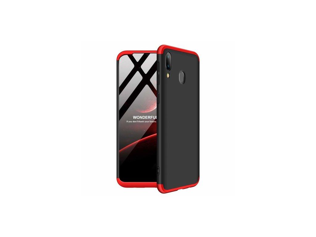 360 oboustranný kryt na Samsung Galaxy M20 - červenočerný