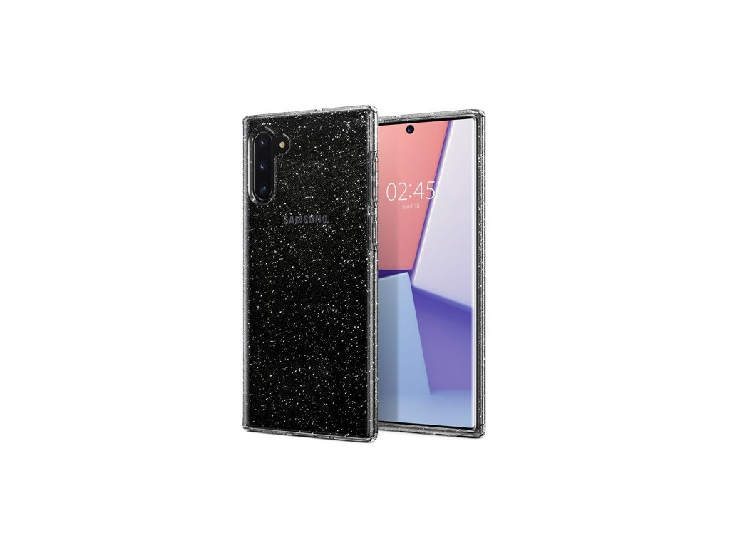 Samsung Galaxy Note 10 N970, obal na mobil Spigen Liquid Crystal Glitte, barva černa.