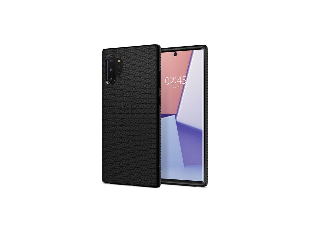 Samsung Galaxy Note 10 Plus, obal na mobil Spigen Liquid Air, barva černa.