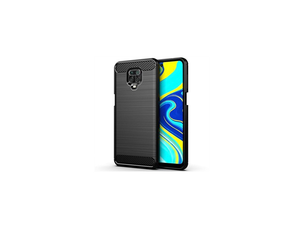 pol ps Carbon Case elastyczne etui pokrowiec Xiaomi Redmi Note 9 Pro Redmi Note 9S czarny 59737 1