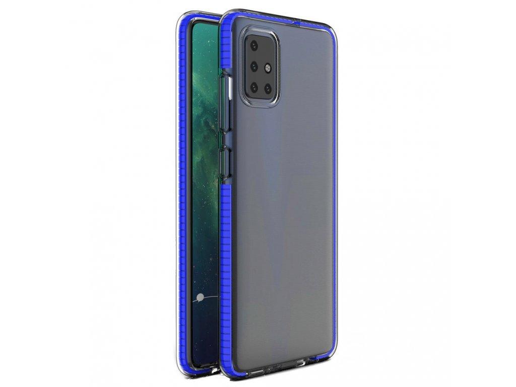 Spring Case clear TPU gel Xiaomi Redmi Note 9 Pro Redmi Note 9S blue