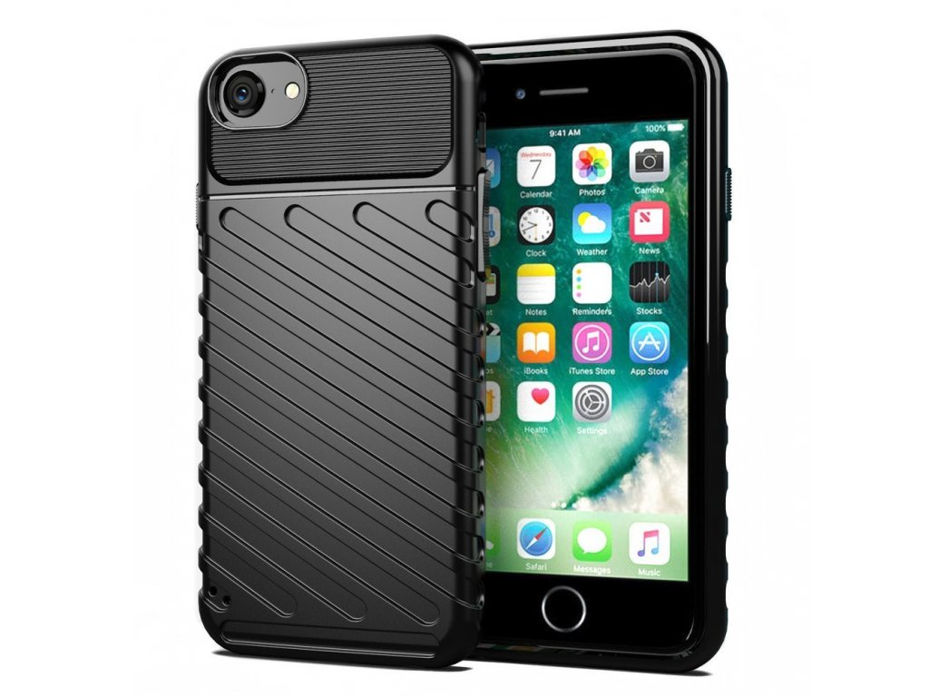 #obal iphone 7 8 se 2020 cerny