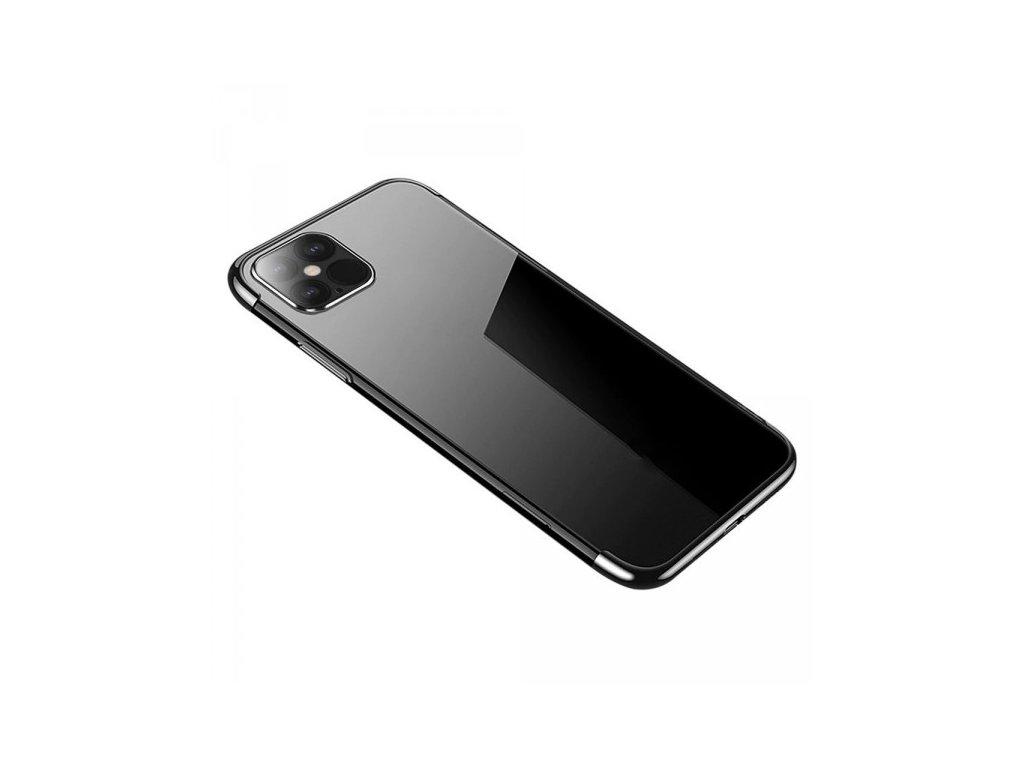 Silikonové pouzdro s barevným rámečkem pro iPhone 12 mini, černý