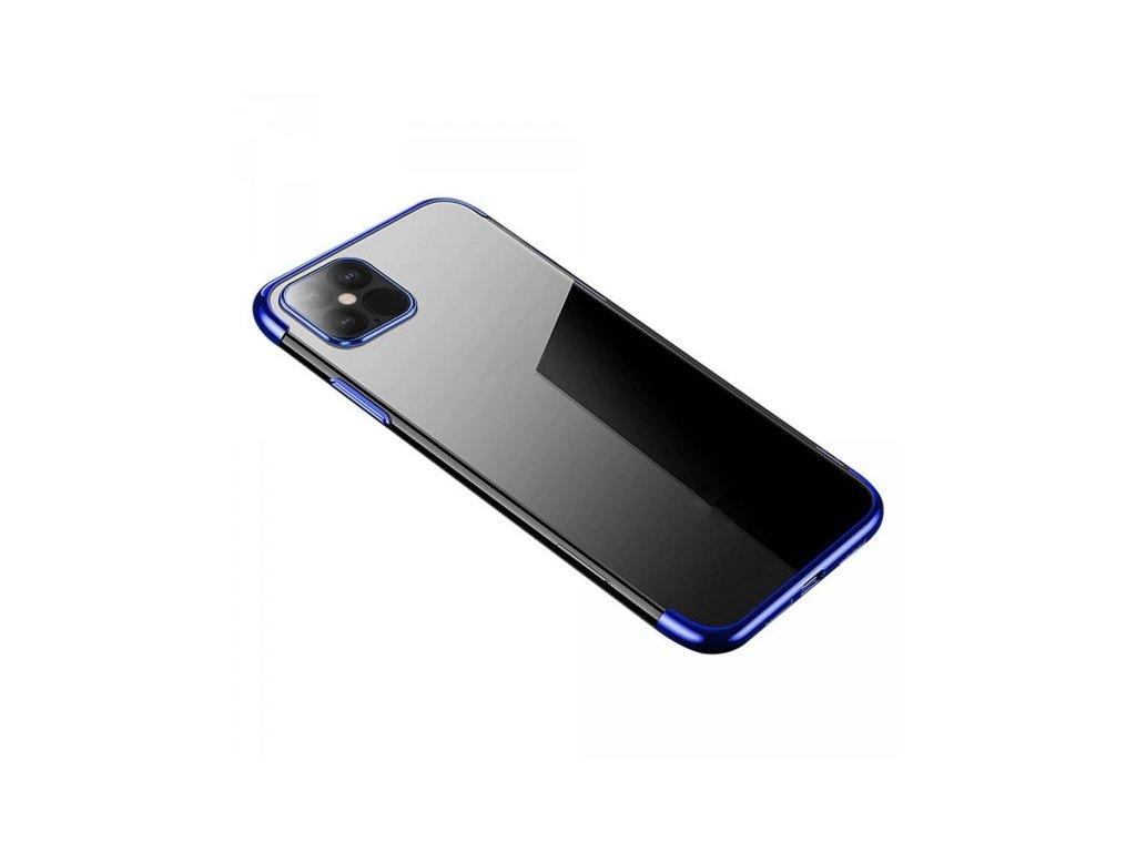 Silikonové pouzdro s barevným rámečkem pro iPhone 12 mini, modrý