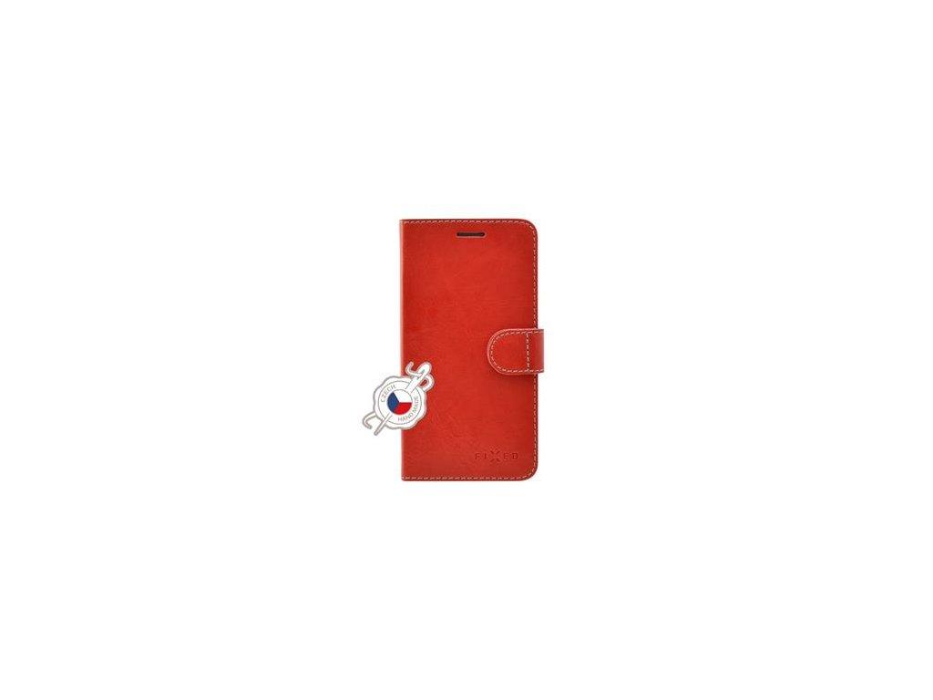 Pouzdro typu kniha FIXED FIT pro Samsung Galaxy J4+, červené