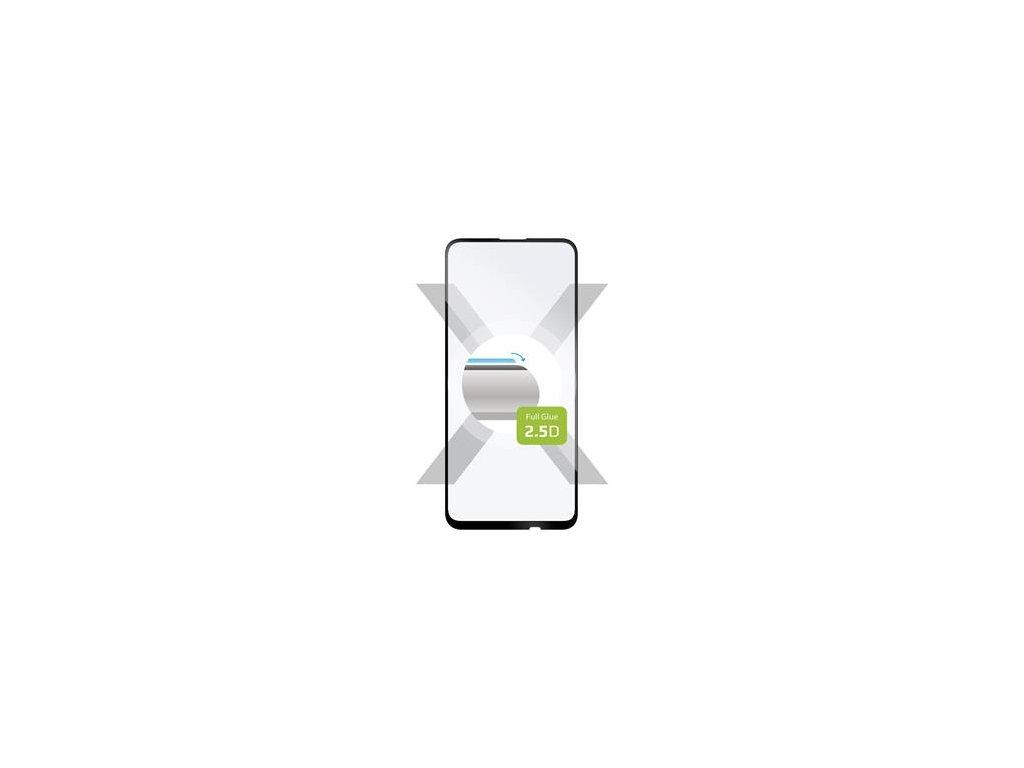 Huawei P40 Lite E, ochranné tvrzené sklo FIXED Full-Cover, lepení přes celý displej, černé