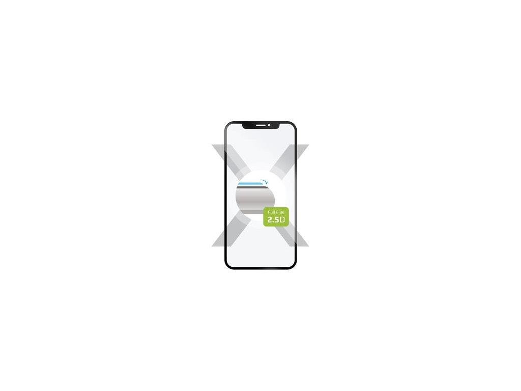 Samsung Galaxy A80, ochranné tvrzené sklo FIXED Full-Cover, lepení přes celý displej, černé