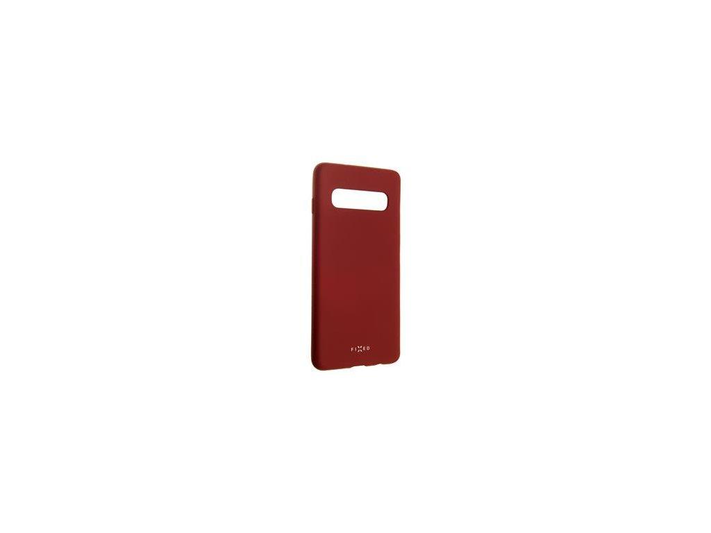 Samsung Galaxy S10, zadní pogumovaný kryt FIXED Story, červený