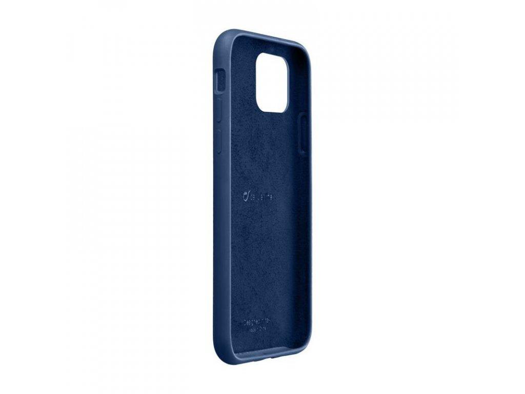 Apple iPhone 11 Pro Max, ochranný silikonový kryt CellularLine SENSATION, modrý